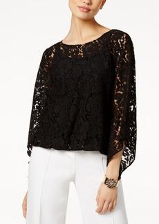 Alfani Lace Bubble Top, Created for Macy's