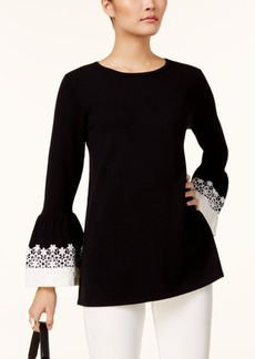 Alfani Lace-Cuff Sweater, Created for Macy's