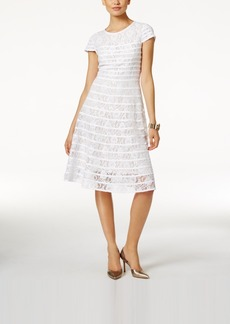Alfani Lace Fit & Flare Dress, Only at Macy's