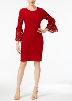 Alfani Lace-Sleeve A-Line Dress, Only at Macy's
