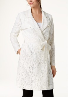 Alfani Lace Trench Coat, Created for Macy's