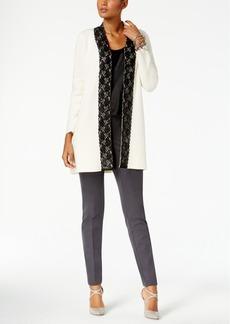 Alfani Lace-Trim Cardigan, Created for Macy's