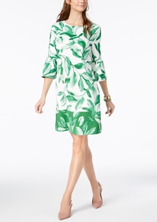 Alfani Petite Printed Bell-Sleeve Shift Dress, Created for Macy's