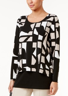 Alfani Layered-Look Top, Only at Macy's