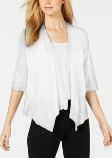 Alfani Linen Open-Front Cardigan, Created for Macy's