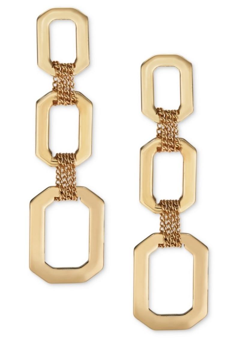 Alfani Link & Multi-Chain Triple-Drop Earrings, Created For Macy's