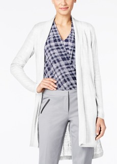 Alfani Long Linen Cardigan, Only at Macy's