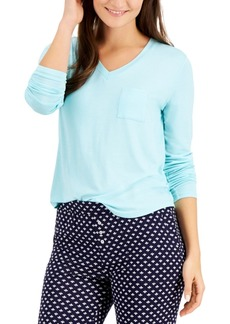 Alfani Long-Sleeve Pocket Pajama T-Shirt, Created for Macy's