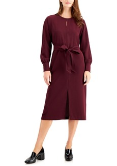 Alfani Long-Sleeve Tie-Waist Dress, Created for Macy's