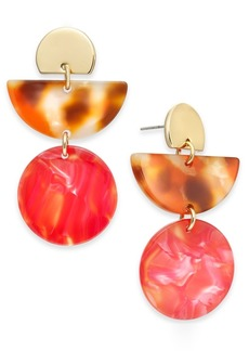 Alfani Marble-Look Linear Drop Earrings, Created For Macy's