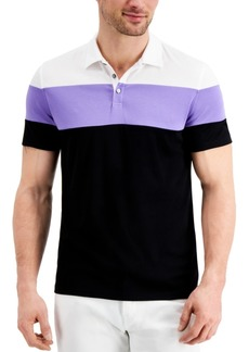Alfani Men's Alfatech Colorblocked Polo, Created for Macy's