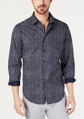 Alfani Men's AlfaTech Stretch Graphic Plaid Shirt, Created for Macy's