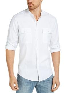 Alfani Men's Banded Collar Shirt, Created for Macy's