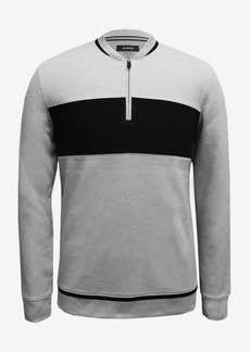 Alfani Men's Baseball Ottoman Quarter Zip Sweatshirt, Created for Macy's