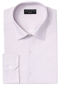 Alfani Men's Big & Tall AlfaTech Puzzle Print Dress Shirt, Created for Macy's
