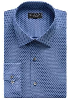 Alfani Men's Big & Tall Classic/Regular Fit Performance Stretch Honeycomb Dot Print Dress Shirt, Created for Macy's