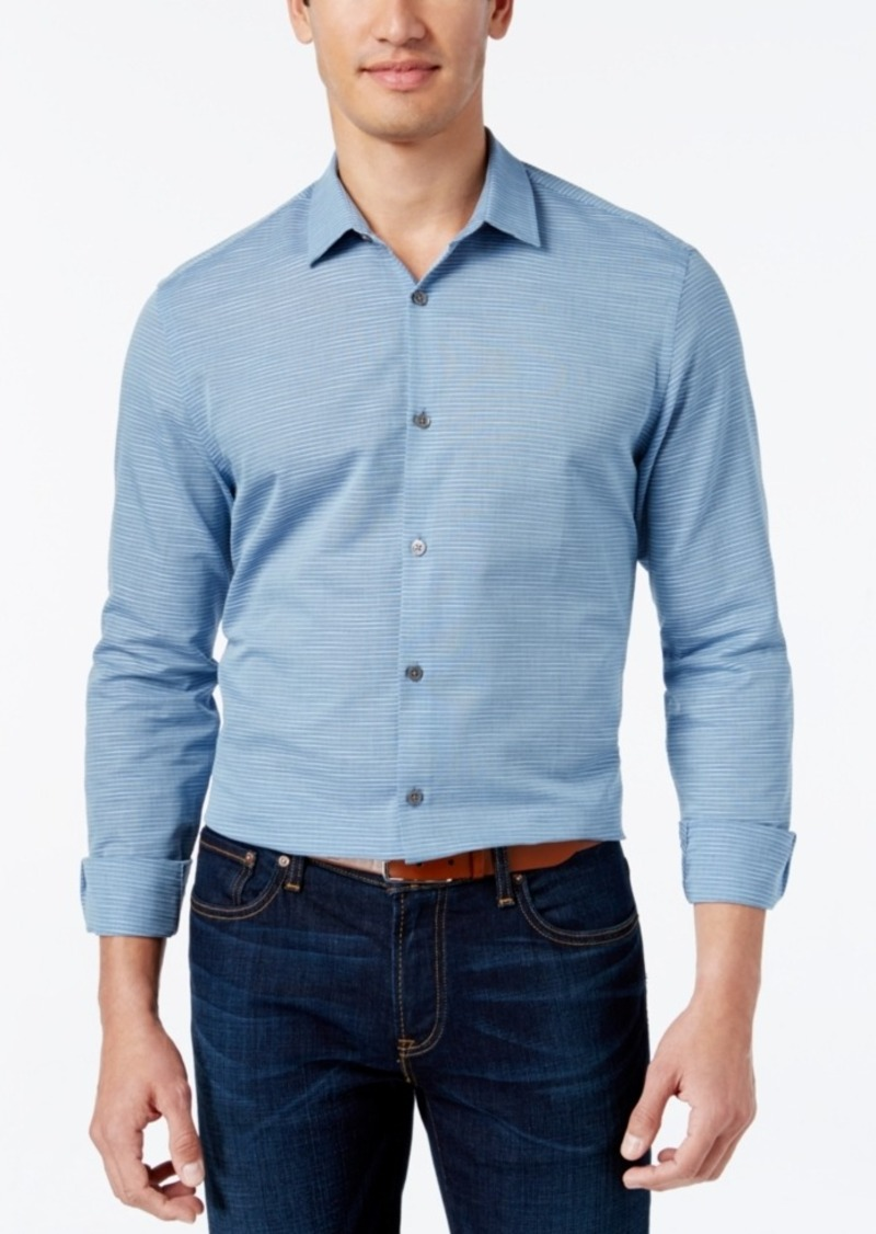 Alfani Men's Big and Tall Horizon Long-Sleeve Shirt, Only at Macy's