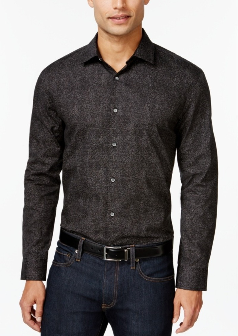 Alfani Men's Big and Tall Printed Shirt, Only at Macy's