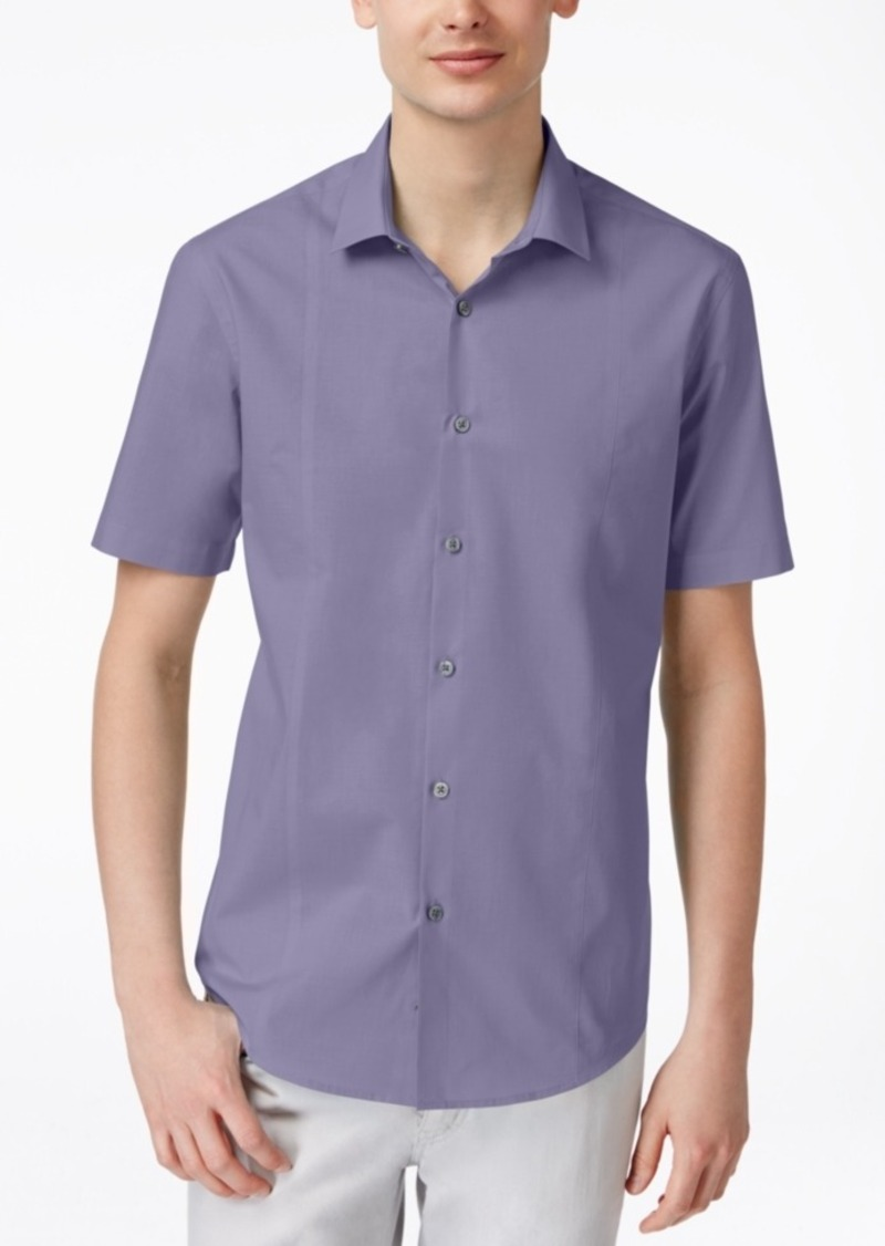 Alfani Men's Texture Short-Sleeve Shirt, Only at Macy's