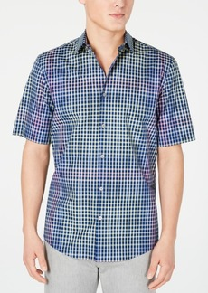 Alfani Men's Bright Spot Plaid Shirt, Created for Macy's