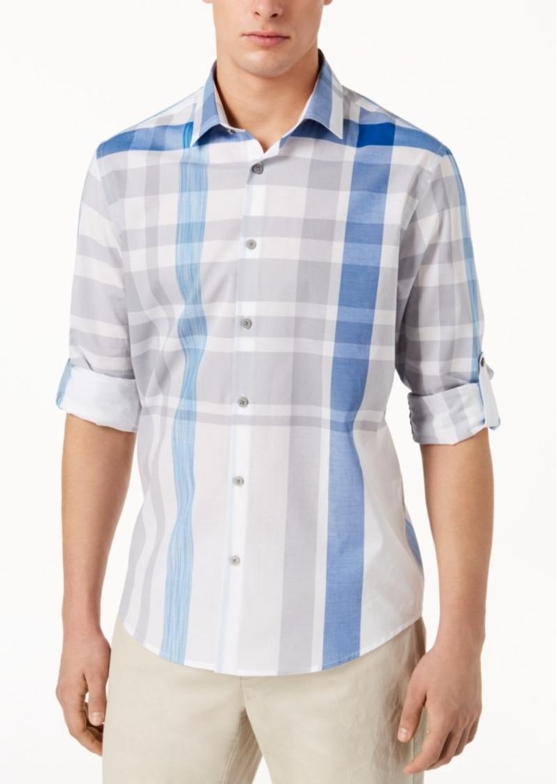 Alfani Men's Broad Plaid Shirt, Created for Macy's