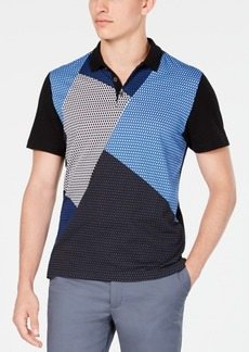 Alfani Men's Colorblocked Mesh Polo Shirt, Created for Macy's