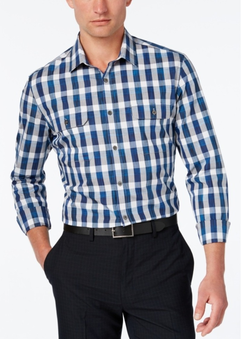 Alfani Men's Check Long-Sleeve Shirt, Slim Fit