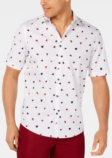 Alfani Men's Classic-Fit Fanbrush-Print Shirt, Created for Macy's