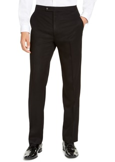 Alfani Men's Classic-Fit Stretch Black Tuxedo Pants, Created for Macy's