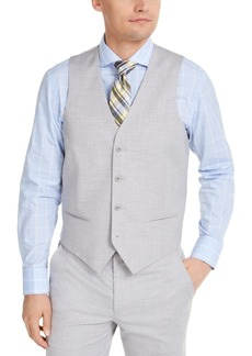 Alfani Men's Classic-Fit Stretch Gray Solid Suit Vest, Created for Macy's