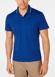 Alfani Men's Classic Fit Tipped Polo, Created for Macy's
