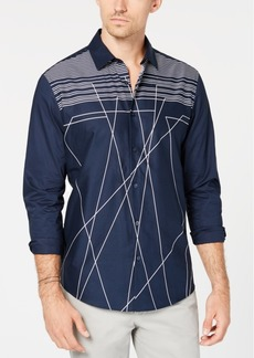 Alfani Men's Clifton Line Drop Shirt, Created for Macy's