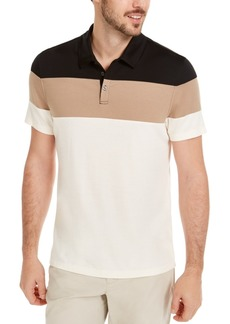 Alfani Men's Colorblocked Polo Shirt, Created for Macy's