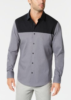 Alfani Men's Colorblocked Shirt, Created for Macy's