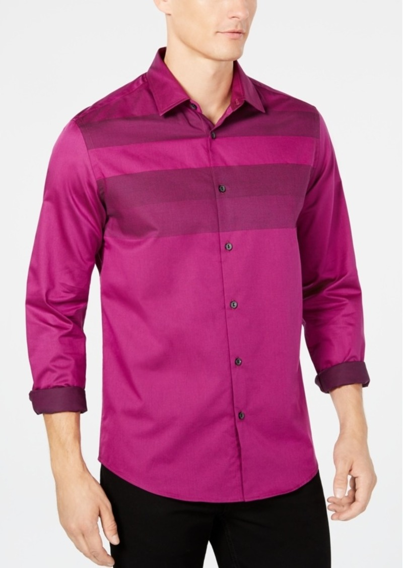 Alfani Men's Colorblocked Shirt, Created for Macy's