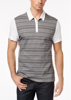 Alfani Men's Colorblocked Striped Polo, Created for Macy's