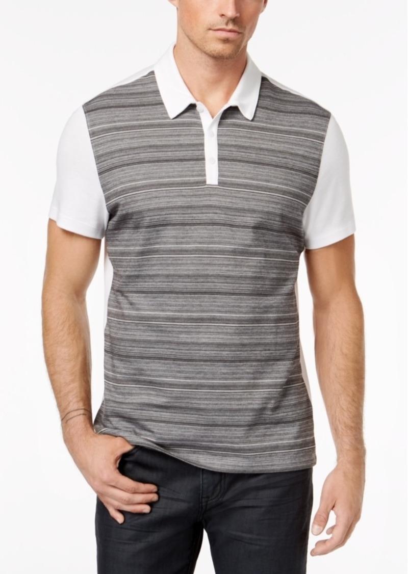 Alfani Men's Colorblocked Striped Polo, Created for Macy's