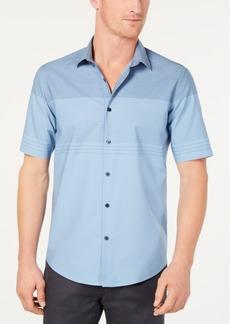 Alfani Men's Colorblocked Textured-Stripe Shirt, Created for Macy's