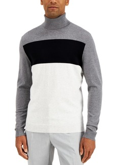 Alfani Men's Colorblocked Turtleneck Sweater, Created for Macy's