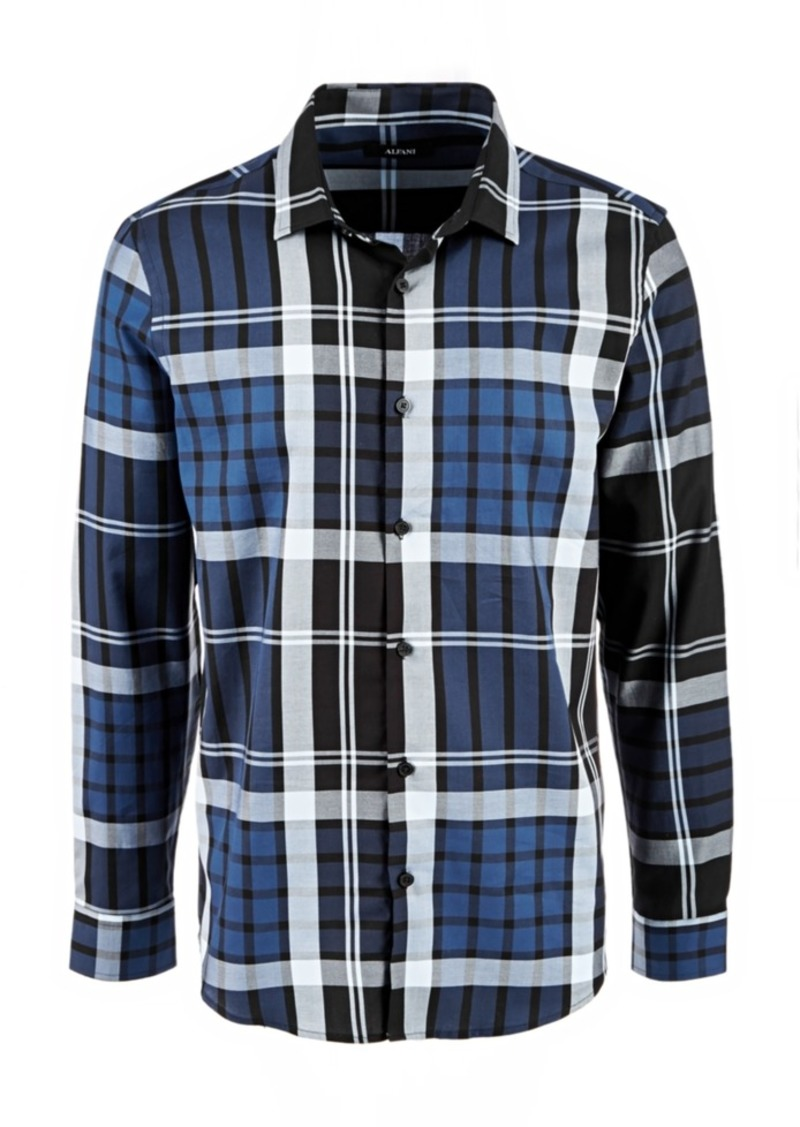 Alfani Men's Conway Plaid Shirt, Created for Macy's