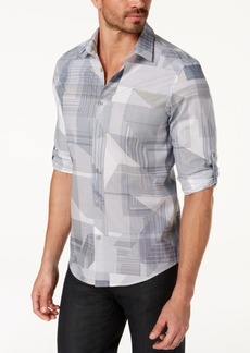 Alfani Men's Cross-Print Shirt, Created for Macy's