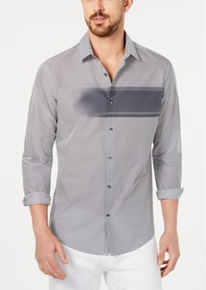 Alfani Men's Diagonal Striped Shirt, Created for Macy's