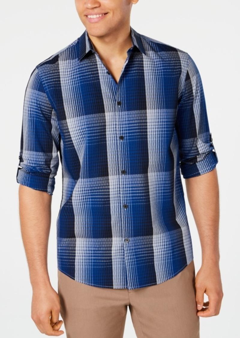 Alfani Men's Diamond Plaid Shirt, Created for Macy's