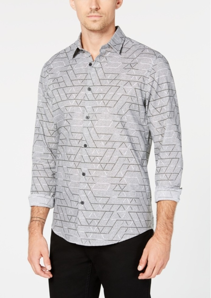 Alfani Men's Dolan Geometric Shirt, Created for Macy's