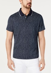 Alfani Men's Dot-Stripe Polo, Created for Macy's