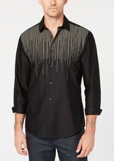 Alfani Men's Drip Stripe Shirt, Created for Macy's