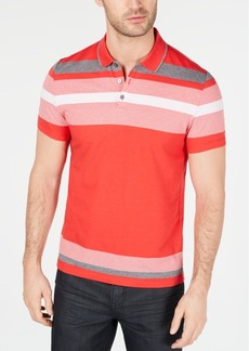 Alfani Men's Engineered Stripe Polo, Created for Macy's