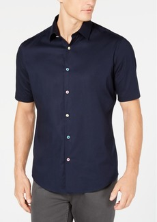 Alfani Men's Floral-Button Shirt, Created for Macy's