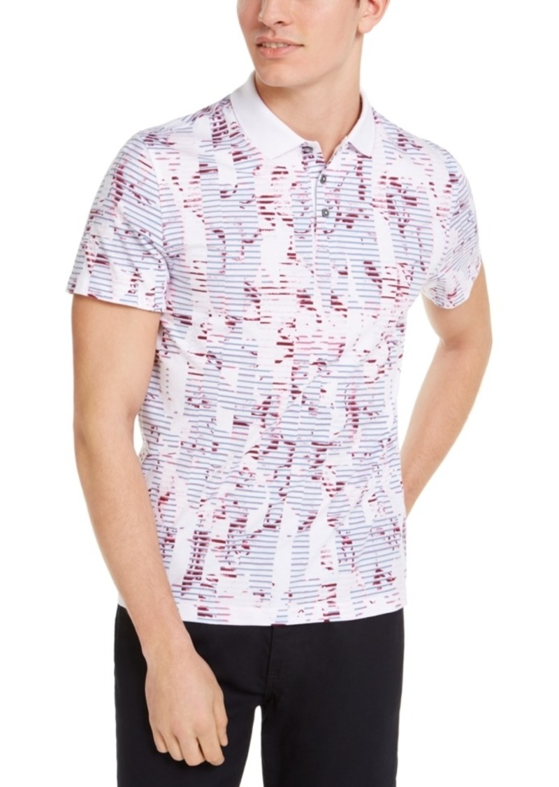 Alfani Men's Floral Striped Polo Shirt, Created for Macy's