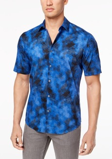 Alfani Men's Geo Cloud-Print Shirt, Created for Macy's